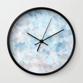 Graffiti dream - blue and nude Wall Clock