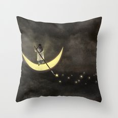 Painting The Stars Throw Pillow