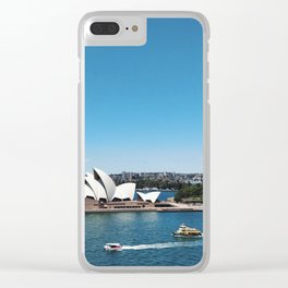 Boats by the Opera House in Australia's Sydney Harbour Clear iPhone Case