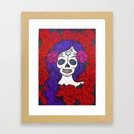 day of the dead skull 2 Framed Art Print