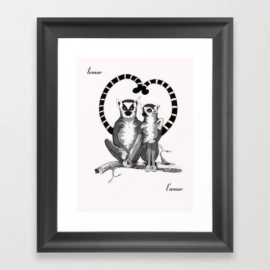 Lemur L'amur Framed Art Print