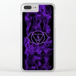 Purple Smoke Ajna Chakra Clear iPhone Case