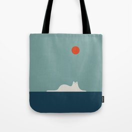 Cat Landscape 95 Tote Bag