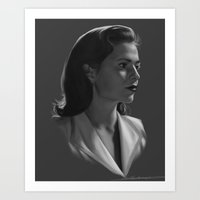 agent carter Art Prints featuring Agent Carter by E Cairns Art