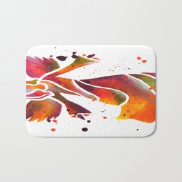 Colorful Angel Acrylic Abstract Painting by Saribelle Rodriguez Bath Mat