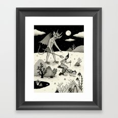 A Diabolical Act of Persuasion Framed Art Print