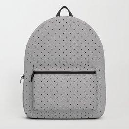Extra Small Dark Grey on Light Grey Polka Dots | Backpack