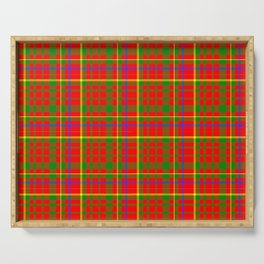 Tartan Vibrant Red Green and Blue Serving Tray