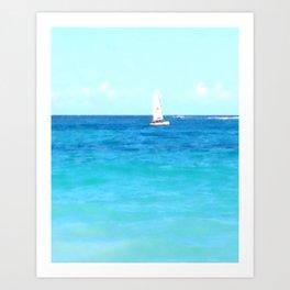 Summer Sailboating | Nadia Bonello Art Print
