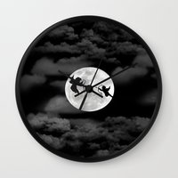 angels Wall Clocks featuring Angels by ARIS8