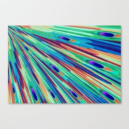 Peacock feather abstraction Canvas Print
