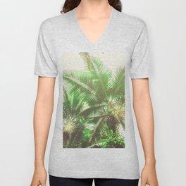Watercolor Tropical Rainforest Unisex V-Neck