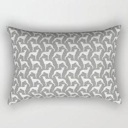 Whippet Silhouette(s) Rectangular Pillow