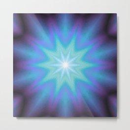 Purple Blue Starburst Metal Print