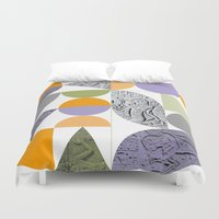 egypt Duvet Covers featuring Geometric Egypt by k8goff