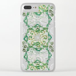 Malachite Green Dragonfly Chaos Clear iPhone Case