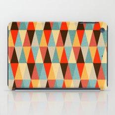Red & Brown Geometric Triangle Pattern iPad Case