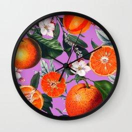 Vintage Fruit Pattern X Wall Clock