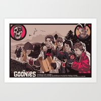 the goonies Art Prints featuring THE GOONIES by Mike Wrobel