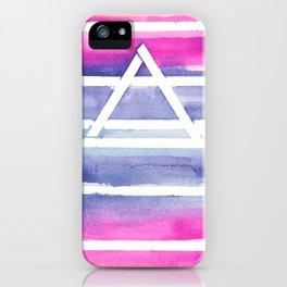 Ombre Watercolor Prism iPhone Case