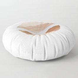 Brown World Floor Pillow