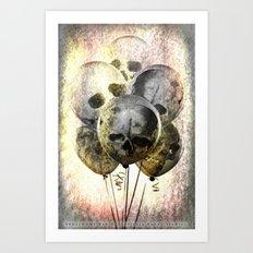 Skulloons B10 Art Print