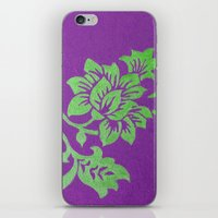 floral pattern iPhone & iPod Skins featuring Floral Pattern by Marjolein