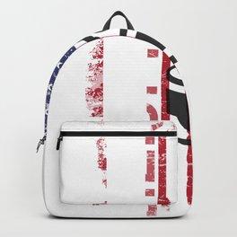 American Flag Badass Drummer Backpack