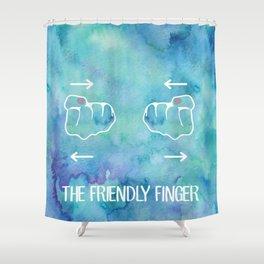 Friendy Finger Shower Curtain