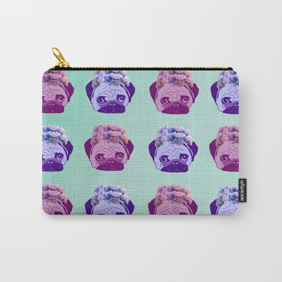 crowned pug pattern Carry-All Pouch