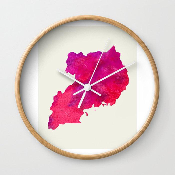 Personalized Art Print Uganda Map Art Print Original Custom Map Art Print  Available in Multiple Size Wall Clock by milos955