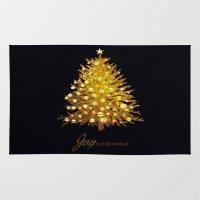 christmas tree Area & Throw Rugs featuring Christmas tree by valzart