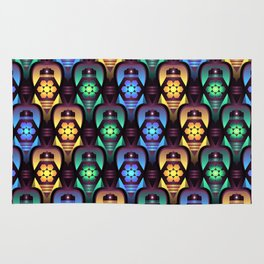 Colorful Moroccan Lanterns Pattern Rug