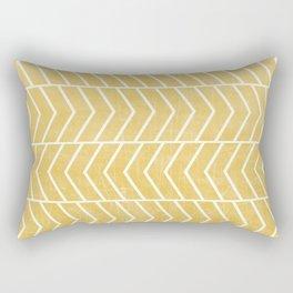 Yellow Chevron Rectangular Pillow
