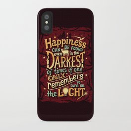 Happiness can be found iPhone Case
