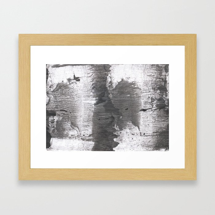 Gray watercolor Framed Art Print