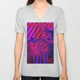 Clouds Mingle with Lines Unisex V-Neck