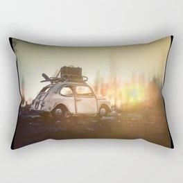 Little Cars, Big Planet (Sunset in the park) Rectangular Pillow