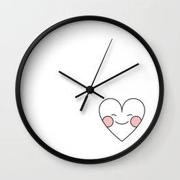 Blushing heart. Wall Clock