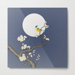 Plum blossoms, bird and the moon Type D (Minhwa: Korean traditional/folk art) Metal Print