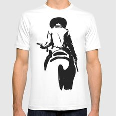 Cowboy Mens Fitted Tee White MEDIUM