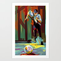 dodgers Art Prints featuring The Showdown by Travis Clarke