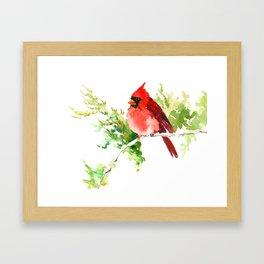 Cardinal Bird, stet birds decor design cardinal bird lover gift Framed Art Print