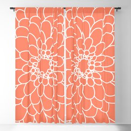 Coral Chrysanth Blackout Curtain
