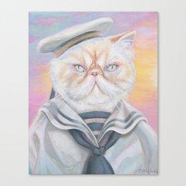 Sailor Kitty Cat Canvas Print