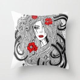Rose. Throw Pillow