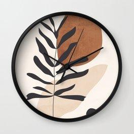 Abstract Art /Minimal Plant 12 Wall Clock