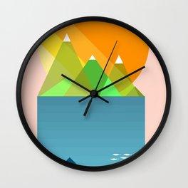 Sun mountains Wall Clock
