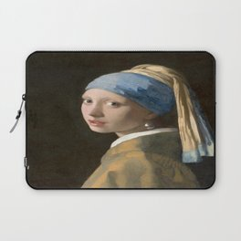 Girl with a Pearl Earring (1665), Old Masters Collection Laptop Sleeve