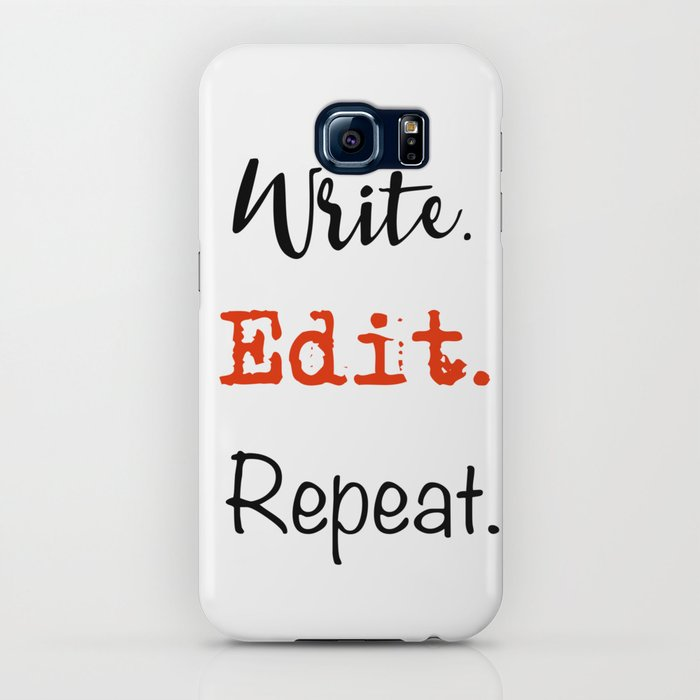 Write. Edit. Repeat. iPhone Case